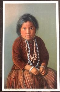 Mint USA PPC Picture Postcard Native American Navaho Indian Girl Yaz Yah