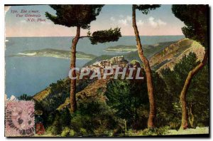 Old Postcard Eze s Sea Vue Generale