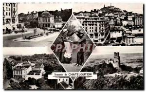 Old Postcard Remembrance Chatelguyon Place Brosson General view The Bourree C...