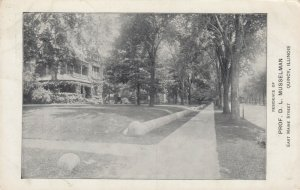 QUINCY, Illinois, 1910-20s; Residence of Prof. D. L. Musselman, East Maine St.