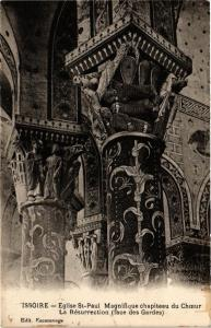 CPA ISSOIRE-Église St-PAUL Magnifique chapiteau du ChoeurLa Resurrectio (220681)