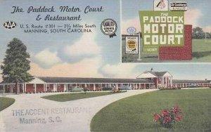 South Carolina Manning The Padlock Motor Court And Restaurant