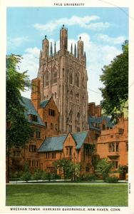 CT - New Haven - Yale University. Wrexham Tower, Harkness Quadrangle