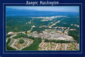 Washington Bangor Aerial View Naval Submarine Base