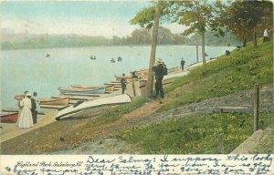 Galesburg Illinois 1907 Postcard Highland Park Knox undivided 21-10518