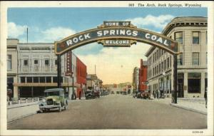Rock Springs WY The Arch Postcard
