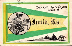 Kansas Ionia Say Kid Why Don't You Come Pennant Series 1914