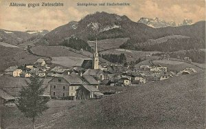ABTENAU GEGEN ZWIESELALM AUSTRIA~STUHLGEBIRGE und BISCHOFSMUTZE~PHOTO POSTCARD
