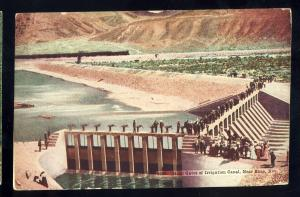 Reno, Nevada/NV Postcard, Head Gates Of Irrigation Canal, 1911!