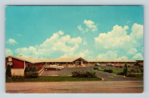 Millbury OH, Fairlane Motel, Street View, Period Cars, Chrome Ohio Postcard