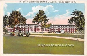 Boys' Dormitory Building, Masonic Home Utica NY Unused