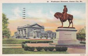 Missouri Kansas City Washington Monument 1943 Curteich