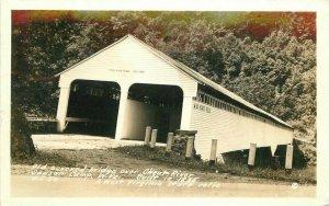 Dawson Camp Old Covered Bridge Cheat River 1941 West Virginia Postcard 8024