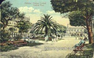 Parque Central, Central Park Habana Cuba, Republica de Cuba Writing On Back