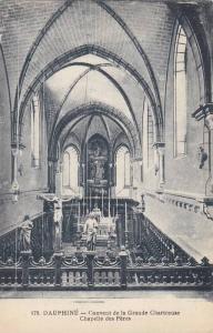 DAUPHINE, Couvent de la Grande Chartreuse, Chapelle des Peres, France, 00-10s