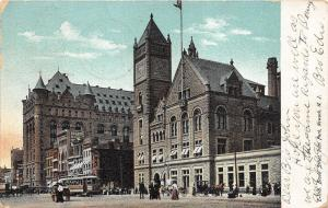 Newark New Jersey~Broad Street~St Patrick's Cathedral~Pedestrians & Trolley~1909