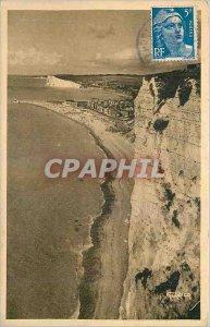 Postcard Modern Treport had Seas Beaches of Treport and Mers views of Cliffs
