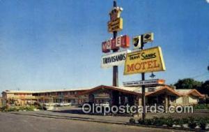 Travisands Motel, Fairfield, CA, USA Motel Hotel Postcard Post Card Old Vinta...