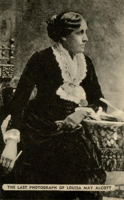 Famous People - Louisa May Alcott   (crease in card)
