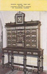 Florida Saint Augustine Spanish Cabinet Year !497 In the Lightner Museum Of H...