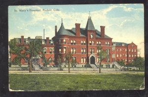 PUEBLO COLORADO ST. MARY'S HOSPITAL VINTAGE POSTCARD 1918
