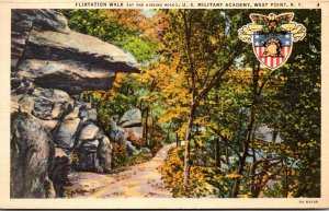 New York West Point Flirtation Rock At The Kissing Rock U S Military Academy ...