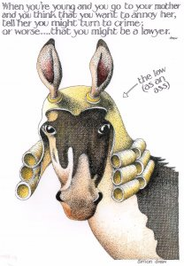 Horse As Legal Court Lawyer Turning To Crime Comic Postcard