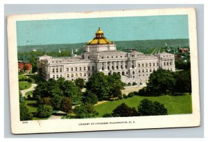 Vintage 1910's Postcard Panoramic View of the Library of Congress Washington DC