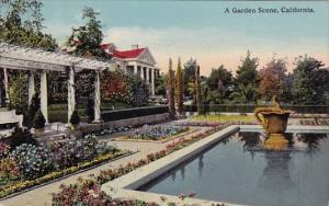 California San Diego A Garden Scene