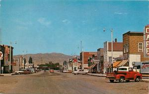 Vintage Chrome Street Scene Postcard; Three Forks MT Gallatin County Unposted