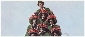 Paul Brooks Davis People Tree 1978 VTG MoMA Long Postcard Graphic Designer Art