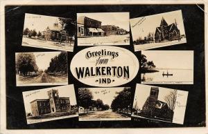 Walkerton IN Shops, Homes~Brethren & Methodist~Koontz Lake~High School~RPPC
