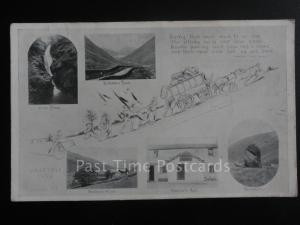 Cumbria: COACH & HORSES being puched up the hill KIRKSTONE PASS Multiview c1910