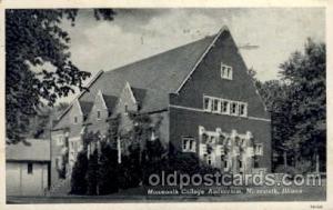 Monmouth, Illinois USAMonmouth College Auditorium Old Vintage Antique Post Ca...