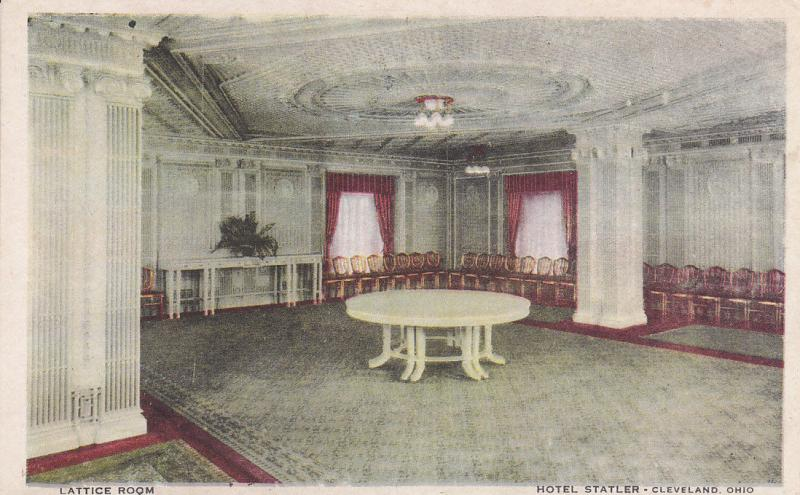 CLEVELAND, Ohio, 1900-1910´s; Lattice Room, Hotel Statler