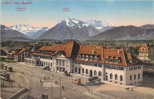 THUN Train station Switzerland 1920s SCHWEIZ SUISSE Thun Bahnhof Thoune la Gare