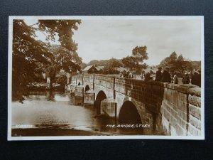 Yorkshire Leeds OTLEY The Bridge - Ref to NAAFI & SS Cheshire c1920s RP Postcard