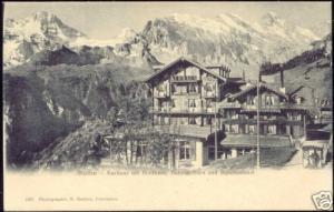 switzerland, MÜRREN, Kurhaus, Breithorn Tschingelhorn