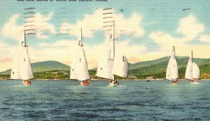 Maine North East Harbor Sail Boat Races 1949