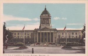 Front view of Legislative Bldgs , Winnipeg , Manitoba , Canada , 30-40s