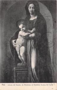 BF34855 pisa interno del duomo la madonna bambino painting  art front/back scan