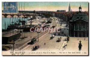 Old Postcard Bordeaux Quays took the Square View Stock Exchange to the Tour S...