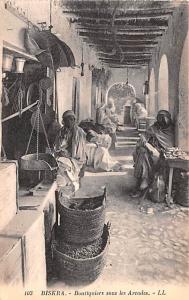 Biskra Algeria, Alger, Algerie Boutiquiers sous les Arcades Biskra Boutiquier...