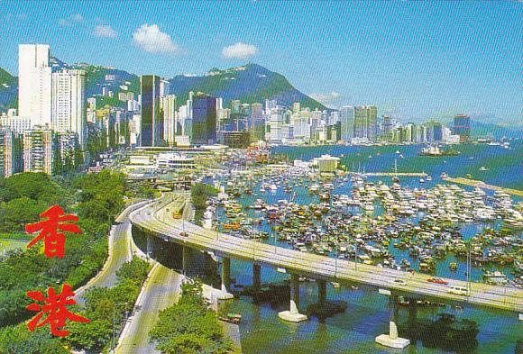 Hong Kong Overlooking Tiger Balm Garden Towards Victoria City