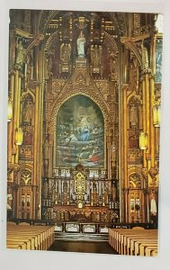 Vintage Postcard: CANADA-Main Alter of the Sacred Heart Chapel, NotreD Montreal.
