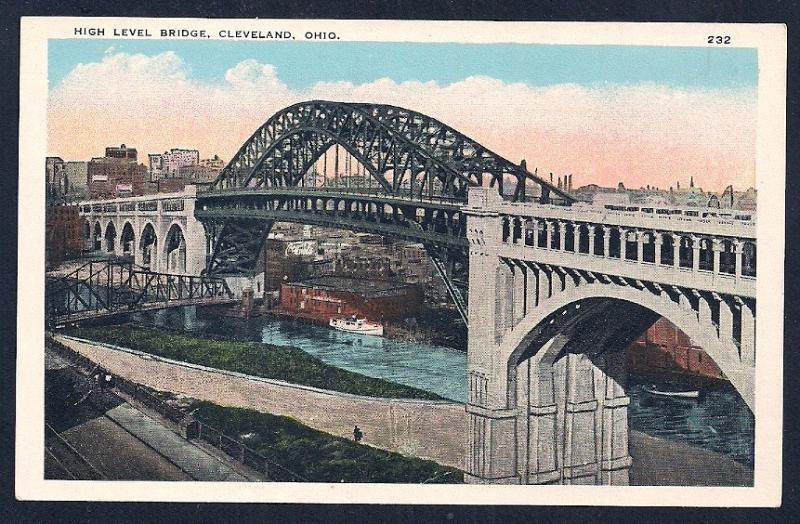 High Level Bridge Cleveland OH unused c1920