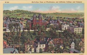 Birds Eye View Of Washington and Jefferson College and Campus Washington Penn...