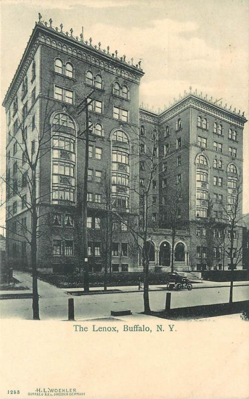 c1906 Lithograph Postcard; Lenox Hotel, Buffalo NY Erie County unposted
