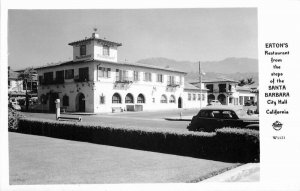Autos Eaton's Restaurant Frasher 1940s Santa Barbara California Postcard 8310