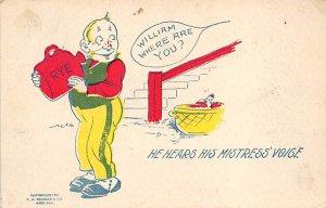 Alcohol Post Card Mistress Voice 1907